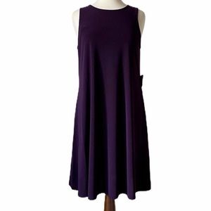 ANNE KLEIN eggplant color shift dress. Sleeveless.